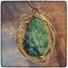 bronze-azurite-pendant -pear