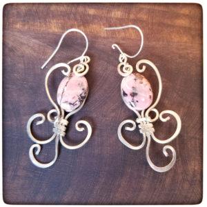 alpaca-rhodonite-earrings